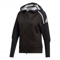Adidas ZNE Primeknit Hoodie Női Felső (Fekete-Fehér) DT2849