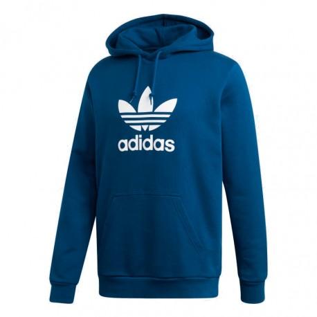 Adidas Originals Trefoil Hoodie Férfi Pulóver (Sötétkék-Fehér) DV1504