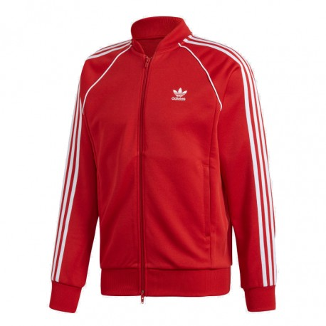 Adidas Originals SST Track Jacket Férfi Felső (Piros-Fehér) DV1514