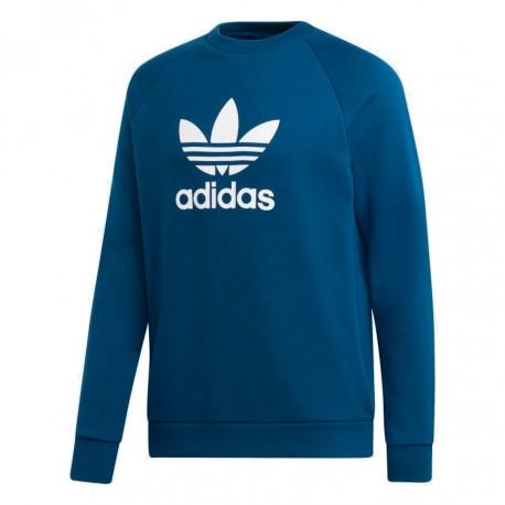 Adidas Originals Trefoil Crew Férfi Pulóver (Kék-Fehér) DV1545
