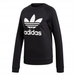 Adidas Originals Trefoil Crewneck Sweatshirt Női Pulóver (Fekete-Fehér) DV2612