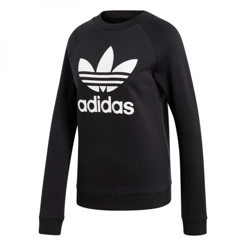 6de4925f35 Adidas Originals Trefoil Crewneck Sweatshirt Női Pulóver (Fekete-Fehér)  DV2612
