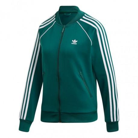 63dda8c7c6 Adidas Originals SST Track Jacket Női Felső (Zöld-Fehér) DV2642