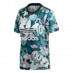 Adidas Originals Trefoil Tee Női Póló (Zöld-Fehér) DV2672