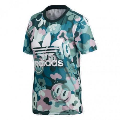 bacedce380a4 Adidas Originals Trefoil Tee Női Póló (Zöld-Fehér) DV2672