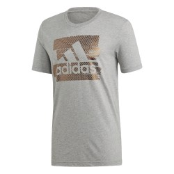 Adidas Badge Of Sport Foil Tee Férfi Póló (Szürke) DV3082