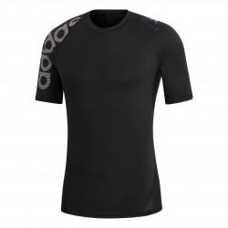 Adidas Alphaskin Badge Of Sport Tee Férfi Futó Póló (Fekete) DW4144