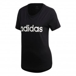 Adidas Essentials Linear Slim Tee Női Póló (Fekete-Fehér) DP2361