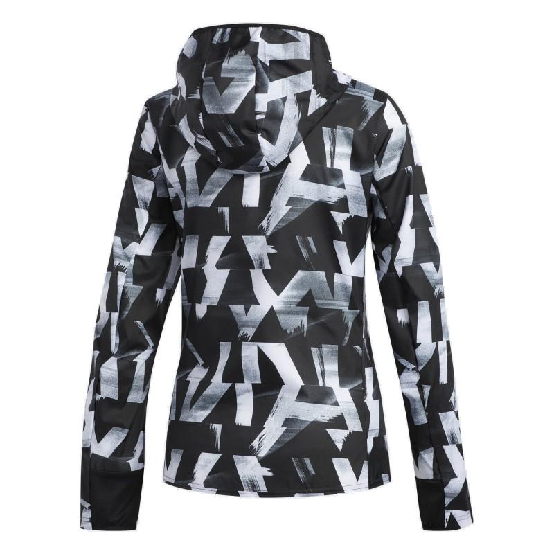 Adidas Own The Run Jacket Női Futó Dzseki (Fekete-Fehér) DQ2628 81d999413d