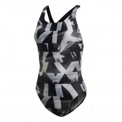 Adidas FIT Suit AOP Női Úszó Dressz (Fekete-Fehér) DT4836