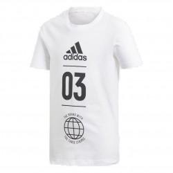 Adidas Sport ID Tee Fiú Gyerek Póló (Fehér-Fekete) DV1704