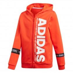 Adidas Sport ID Branded Hoodie Fiú Gyerek Felső (Narancssárga-Fehér) DV1715
