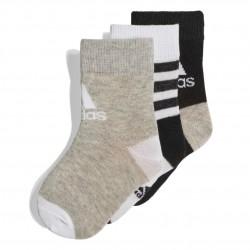 Adidas Ankle Socks 3 PP 3 Páras Gyerek Zokni (Fekete-Szürke-Fehér) DW4753