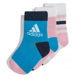 Adidas Ankle Socks 3 PP 3 Páras Gyerek Zokni (Rózsaszín-Kék-Fehér) DW4755