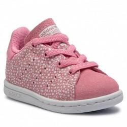 Adidas Originals Stan Smith Kislány Gyerek Cipő (Rózsaszín-Fehér) F34170