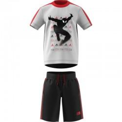 Adidas Marvel Spider Man Summer Set Fiú Gyerek Nyári Együttes (Fehér-Piros-Fekete) DV0831