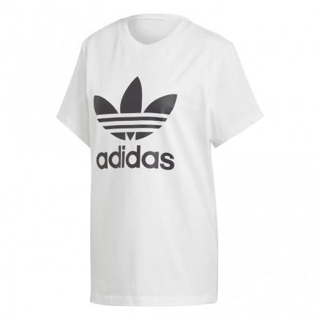 8fd9a67198 Adidas Originals Boyfriend Tee Női Hosszított Póló (Fehér-Fekete) DX2322