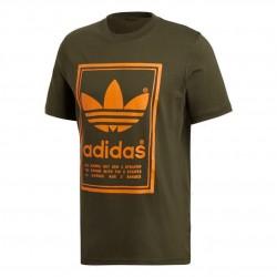 Adidas Originals Vintage Tee Férfi Póló (Zöld-Narancssárga) DJ2718