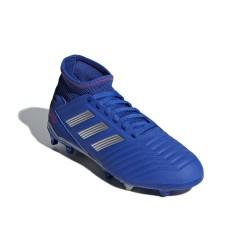 Adidas Predator 19.3 FG J Fiú Gyerek Foci Cipő (Kék-Szürke) CM8533