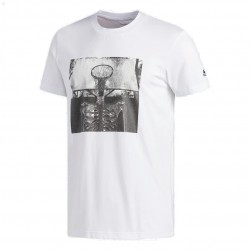 Adidas Skull Ball Tee Férfi Póló (Fehér-Fekete) DU6447