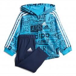 Adidas Graphic Fleece Jogger Set Kisfiú Bébi Együttes (Kék-Fehér) DV1246