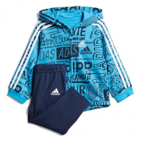Adidas Graphic Fleece Jogger Set Kisfiú Bébi Együttes (Kék-Fehér) DV1246 8a853dcbf6