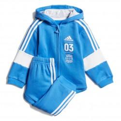 Adidas Fleece Jogger Set Kisfiú Bébi Együttes (Világoskék-Fehér) DV1276