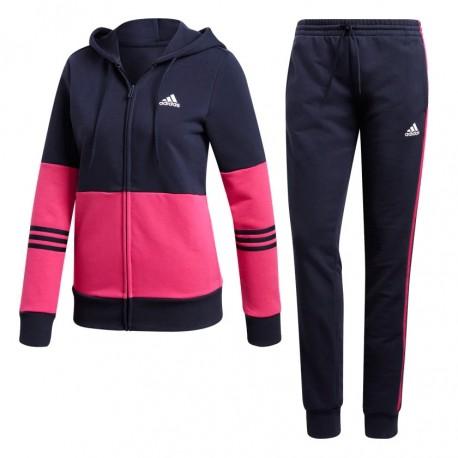 5ea2f005bb Adidas Cotton Energize Track Suit Női Melegítő Együttes (Sötétkék-Pink)  DX0766
