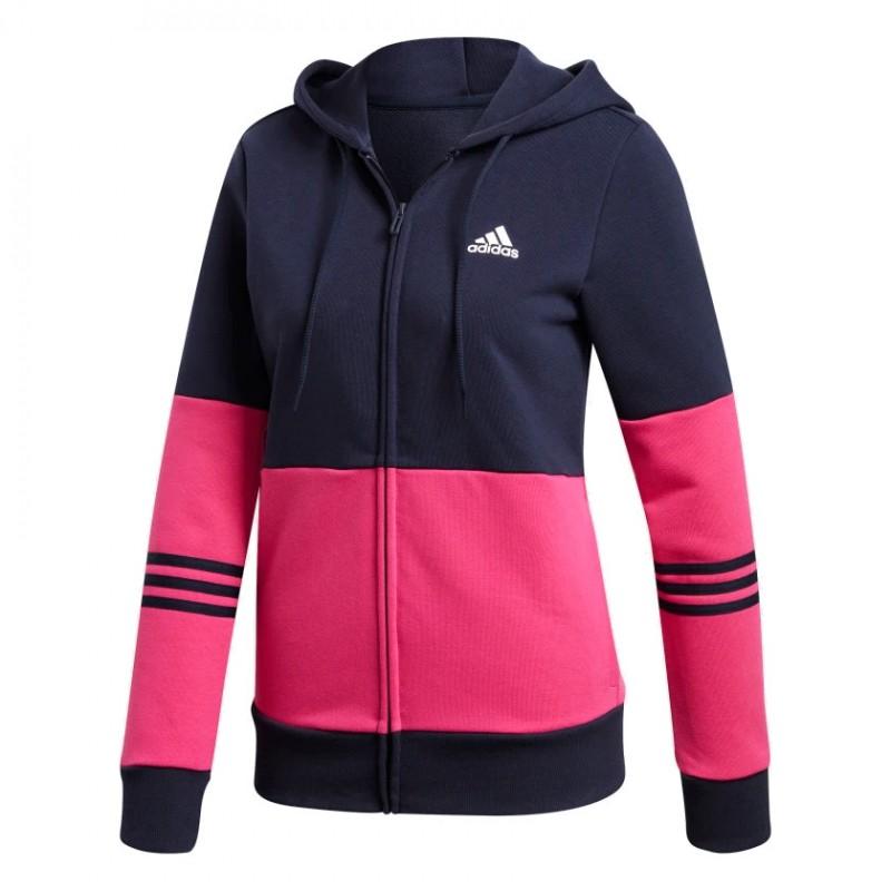 817a12327b Adidas Cotton Energize Track Suit Női Melegítő Együttes (Sötétkék-Pink)  DX0766