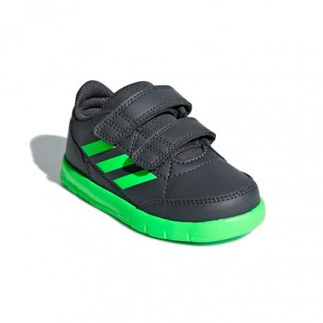 Adidas AltaSport CF I Kisfiú Gyerek Cipő (Fekete-Zöld) D96840 acbe198453