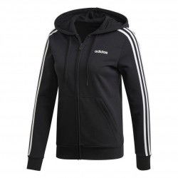 Adidas Essentials 3 Stripes Hoodie Női Felső (Fekete-Fehér) DP2419