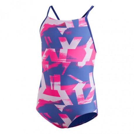 Adidas Allover Print Swimsuit Lány Gyerek Úszó Dressz (Kék-Rózsaszín) DQ3384 d4d35a210e