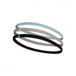 Adidas 3 PP Hairband 3 Darabos Fejpánt (Kék-Fekete-Szürke) DU3270