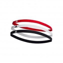 Adidas 3 PP Hairband 3 Darabos Fejpánt (Piros-Fekete-Fehér) DU3271