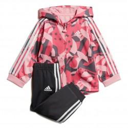 Adidas Shiny Jogger Set Kislány Bébi Együttes (Rózsaszín-Fekete) DV1240