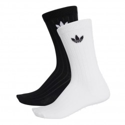 Adidas Originals Mid Ribbed Crew Socks 2P 2 Páras Zokni (Fekete-Fehér) DV1425