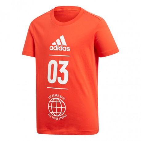 Adidas Sport ID Tee Fiú Gyerek Póló (Piros-Fehér) DV1705