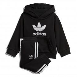 Adidas Originals Trefoil Hoodie Set Kisfiú Bébi Együttes (Fekete-Fehér) DV2809