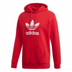 Adidas Originals Trefoil Hoodie Férfi Pulóver (Piros-Fehér) DX3614