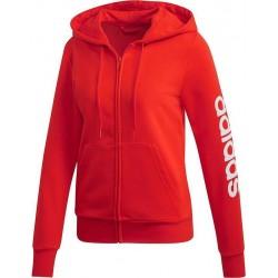 Adidas Essentials Linear Full Zip Hoodie Női Felső (Piros-Fehér) DU0650