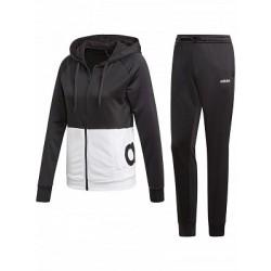 Adidas WTS Linear FT Hoodie Női Melegítő Együttes (Fekete-Fehér) DV2425