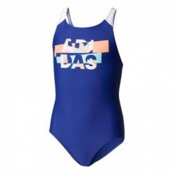Adidas BY Lineage Swimsuit Lány Gyerek Úszódressz (Kék-Barack-Világoskék) CD0861