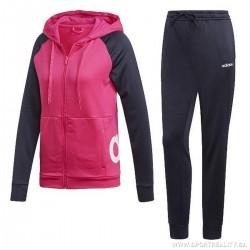 Adidas WTS Linear FT Hoodie Női Melegítő Együttes (Fekete-Rózsaszín) DV2426