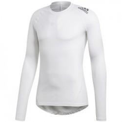 Adidas Alphaskin Sport Long Sleeve Tee Férfi Felső (Fehér-Fekete) CD7178