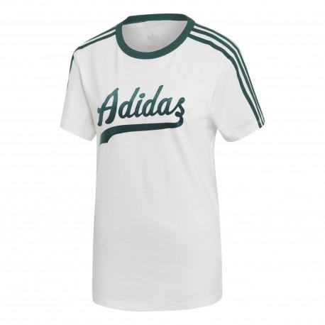 3802d6c5c0 Adidas Originals Regular Tee Női Póló (Fehér-Zöld) DU9916