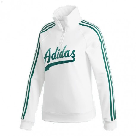 e7415072c5 Adidas Originals Sweater Női Pulóver (Fehér-Zöld) DU9922