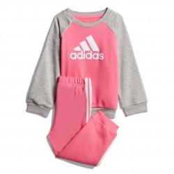 Adidas French Terry Jogger Set Kislány Bébi Együttes (Rózsaszín-Szürke) DV1288