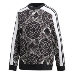 Adidas Originals Sweater Női Pulóver (Fehér-Fekete) DX1156