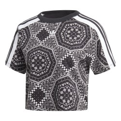 Adidas Originals Cropped Tee Női Póló (Fekete-Fehér) DX4238