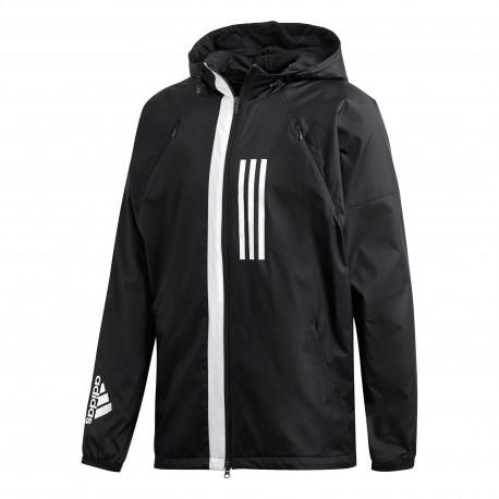 Adidas WND Fleece Lined Jacket Férfi Széldzseki (Fekete-Fehér) DZ0052 6938dd108c